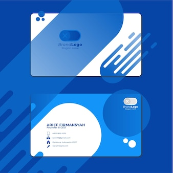 Card business template with geometric shape 6
