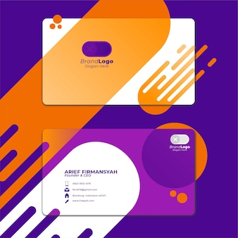 Card business template with geometric shape 8