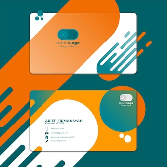 Card business template with geometric shape 9
