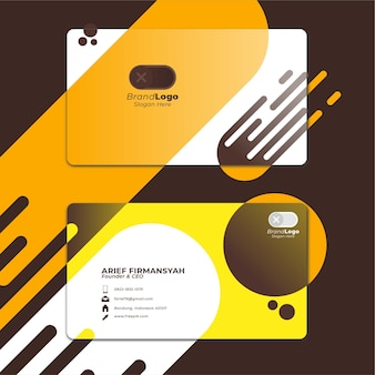 Card business template with geometric shape