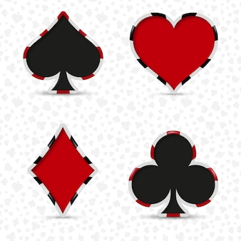 Card deck suits for playing poker and casino.