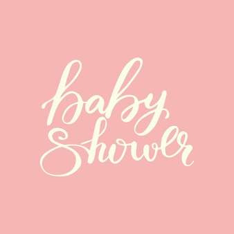 Card design with lettering baby shower. vector illustration.