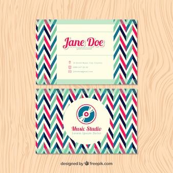 멋진 패턴의 음악 스튜디오 용 카드