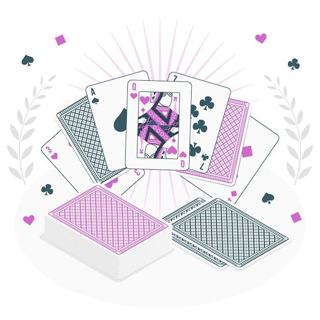 Card game concept illustration