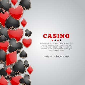 Sfondo di simboli del gioco di carte