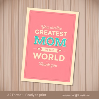 Card for the greatest mom in the world