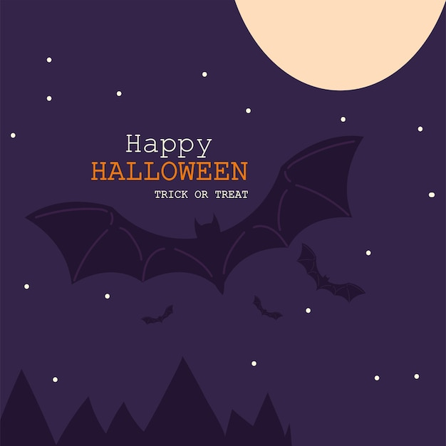 Card of happy halloween