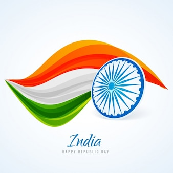 Card of india republic day Free Vector