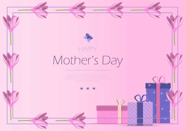 Card for the international mother s day vector illustration a woman holds a little girl