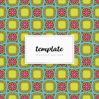 Card or invitation with mandala pattern