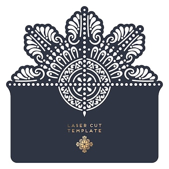 Card laser cut template