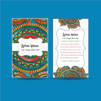 Card mandala design