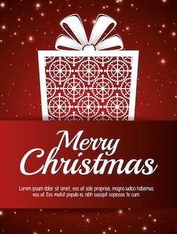 메리 크리스마스와 새 해 디자인 절연 카드