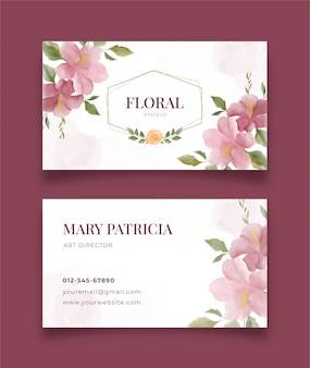 Card name with beautiful floral and modern decorative