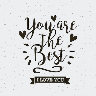 Card of i love you design