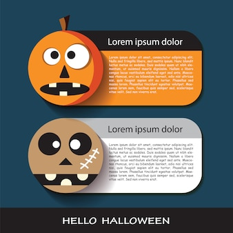 Card paper design of halloween day