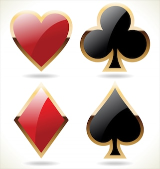 Card suit icons in black and red