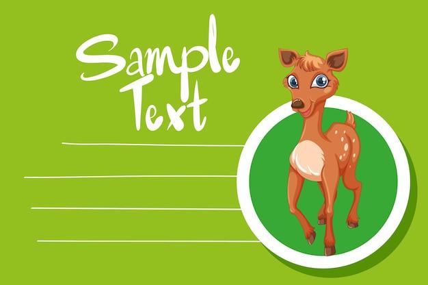Modello di carta con cervo carino