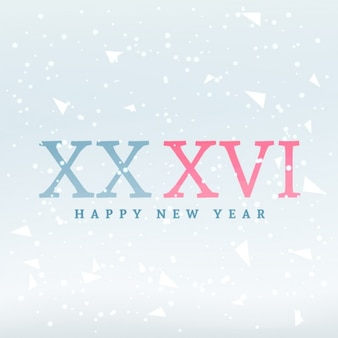Card with 2016 in roman numerals