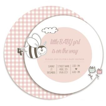Шаблон для душа карта ребенка девушка