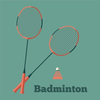 Card with badminton rackets.
