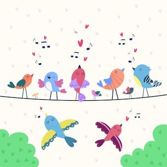 愛について歌う鳥のカード
