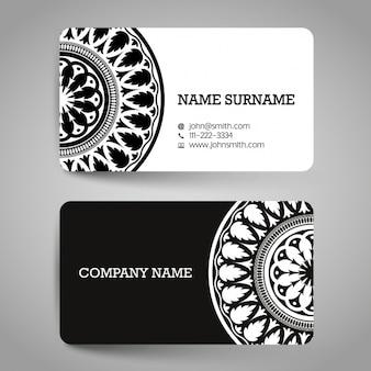 흑인과 백인 장신구와 카드 무료 벡터