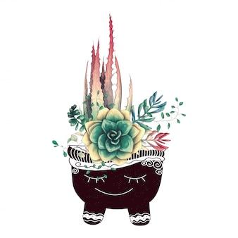 선인장과 다육 식물 카드 세트
