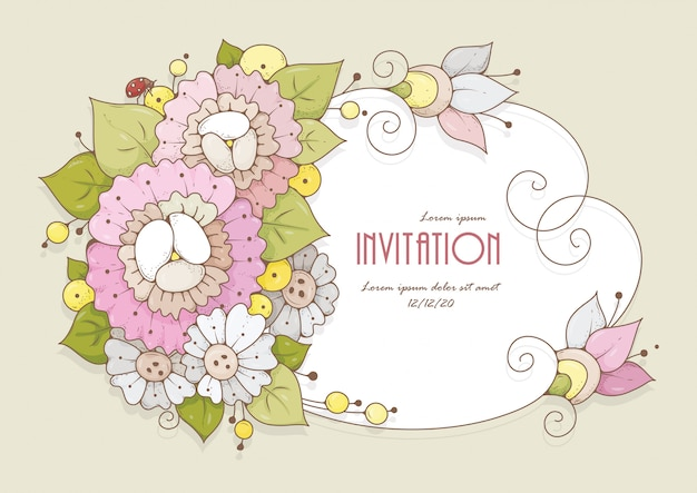 A card with delicate flowers is suitable for congratulations on a birthday, wedding or other holidays.