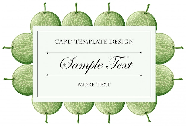 Card with frame of cantaloupe fruits