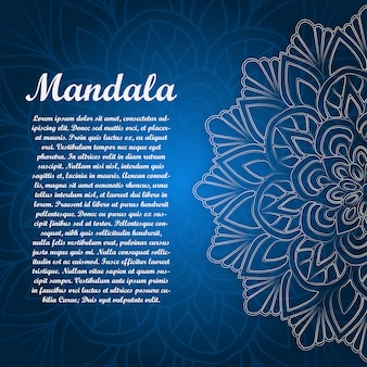 Card with glow mandala