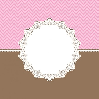Card with ornametnal badge in scrapbook style