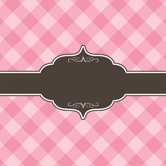 Card with pink checkered background