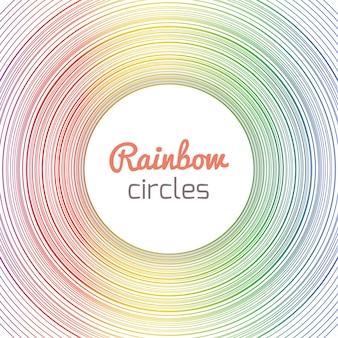 Карточка с кругами радуги с местом для текста