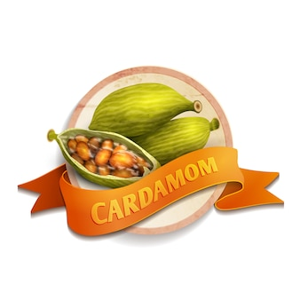 Cardamom ribbon