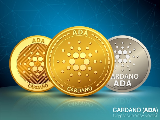 Cardano cryptocurrency vector
