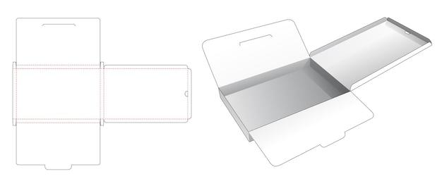 Жестяная коробка для хранения картона с фиксированной точкой и вырубным шаблоном