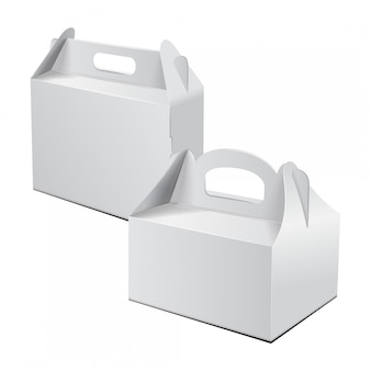 Cardboard box. for cake, fast food, gift, etc.
