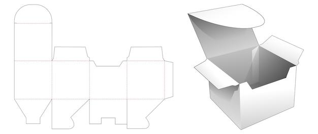 Cardboard box die cut template design