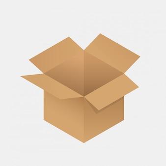 Cardboard box icon .
