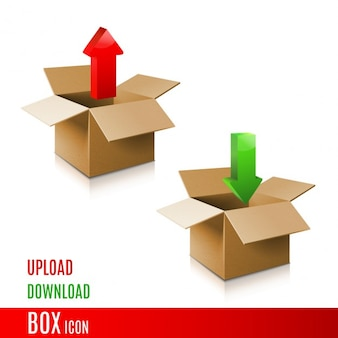 Cardboard box icons