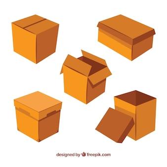 Сбор картонных коробок для отгрузки Бесплатные векторы