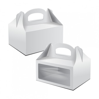 Cardboard cake box. for fast food, gift, etc.