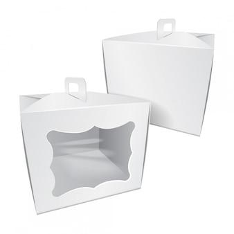 Картон торт белая коробка. для быстрого питания, подарков и т. д.
