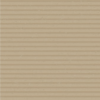 Cardboard close up realistic vector square background. brown corrugated layered carton surface illustration. clear craft paper, box material cover. beige paperboard texture