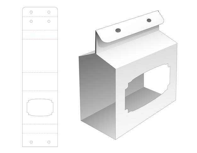 로프 구멍 및 창 다이 컷 템플릿이있는 골판지 커버