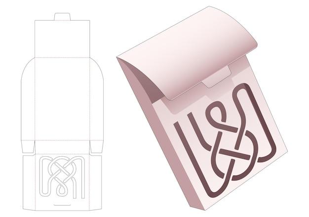 Картонная флип-сумка с трафаретной высечкой по трафарету