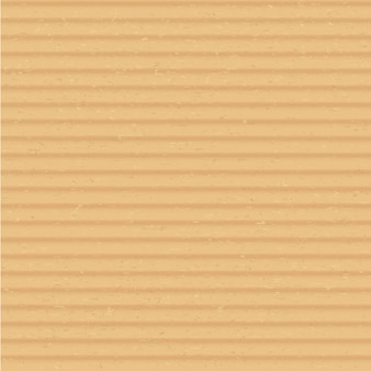 Картонный материал крупным планом реалистичные векторные квадратный фон. коричневая иллюстрация поверхности гофрированного картона. прозрачная крышка листа крафт-бумаги. бежевый картон с текстурой флейты