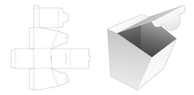 골판지 오프닝 포인트 포장 상자 다이 컷 템플릿