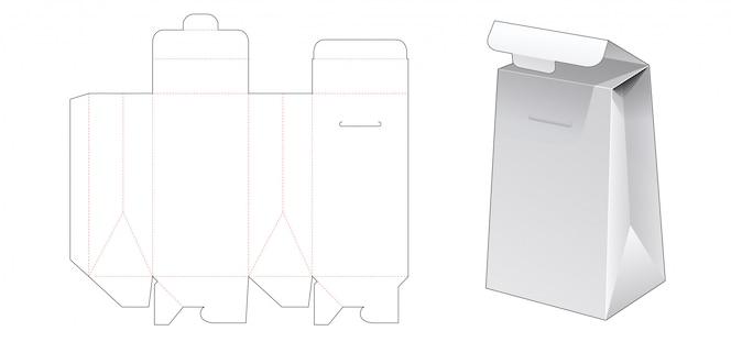 Modello fustellato della borsa d'imballaggio del cartone